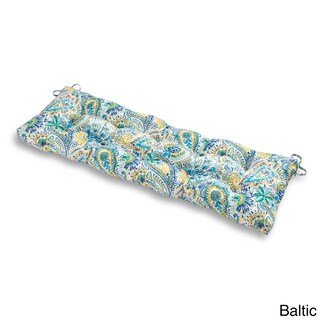 Greendale Home Fashions Outdoor Bench Cushion in Painted Paisley - 18w x 51l