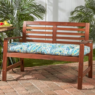 51-inch Outdoor Bench Cushion in Painted Paisley