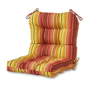 Outdoor Seat/Back Chair Cushion in Kinnabari Stripe