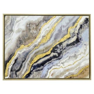 Three Hands 'Gold And Black Abstract Waves' Embellished Canvas Oil Painting|https://ak1.ostkcdn.com/images/products/14451339/P21014500.jpg?impolicy=medium