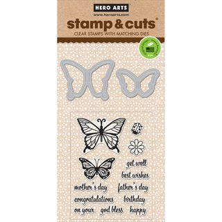 Hero Arts Stamp & Cuts-Butterfly Pair