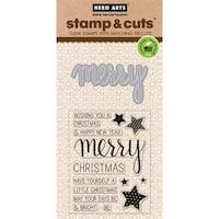 Hero Arts Stamp & Cuts-Merry