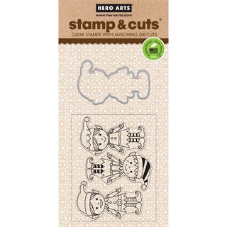 Hero Arts Stamp & Cuts-Santa's Elves