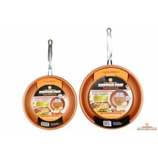Original Copper Pan 10-inch and 12-inch Round Pans (Set of 2)
