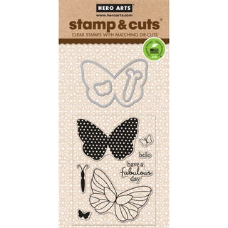 Hero Arts Stamp & Cuts-Butterfly