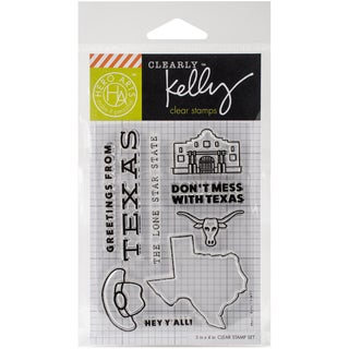 Kelly Purkey Clear Stamps 3X4-Texas