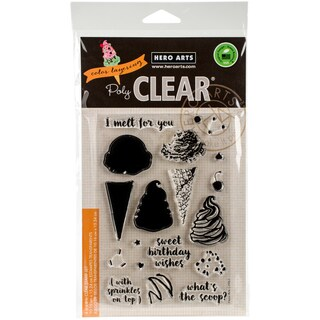 Hero Arts Clear Stamps 4X6-Color Layering Ice Cream
