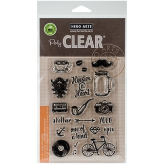 Hero Arts Clear Stamps 4X6-Hipster At Heart