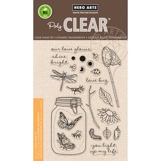 Hero Arts Clear Stamps 4X6-Mason Jar Bugs