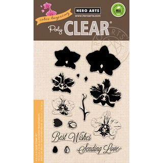 Hero Arts Clear Stamps 4X6-Large Orchid