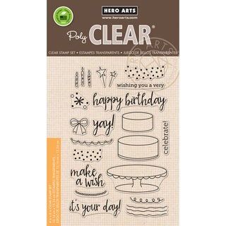 Hero Arts Clear Stamps 4X6-Birthday Cake Layering