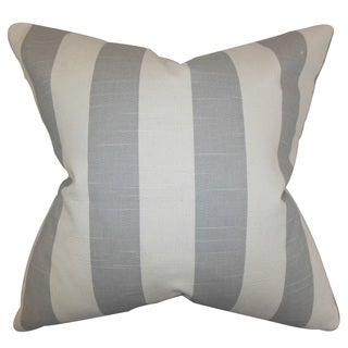 Acantha Stripes 22-inch Down Feather Throw Pillow Gray