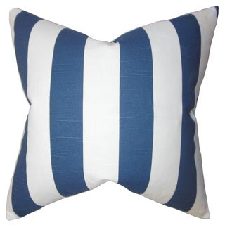 Acantha Stripes 22-inch Down Feather Throw Pillow Blue