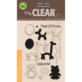 Hero Arts Clear Stamps 4X6-Balloon Animal Birthday