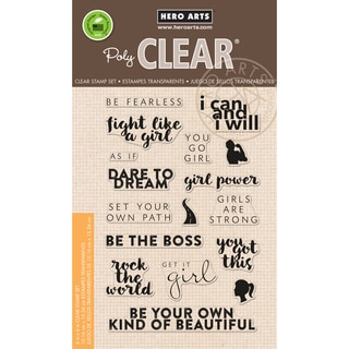 Hero Arts Clear Stamps 4X6-Dare To Dream