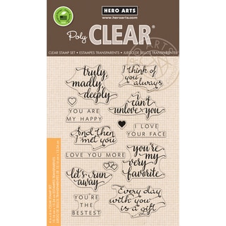 Hero Arts Clear Stamps 4X6-You Are My Happy