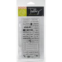 Kelly Purkey Clear Stamps 2.5X6-Work Planner