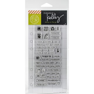 Kelly Purkey Clear Stamps 2.5X6-Home Planner