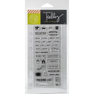 Kelly Purkey Clear Stamps 2.5X6-Travel Planner