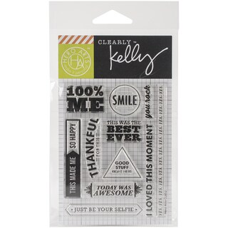 Kelly Purkey Clear Stamps 3X4-100% Me