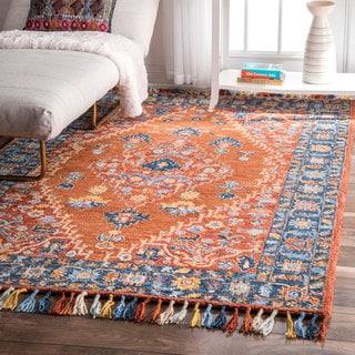nuLOOM Handmade Traditional Inspired Mystic Wool Tassel Area Rug