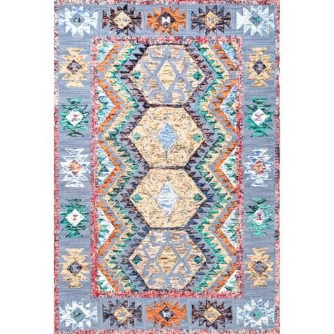 nuLOOM Multi Handmade Contemporary Abstract Tribal Wool Area Rug