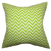 Xayabury Zigzag 22-inch Down Feather Throw Pillow Chartreuse