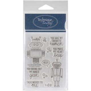 Technique Tuesday Clear Stamps 3X4-Favorite Human