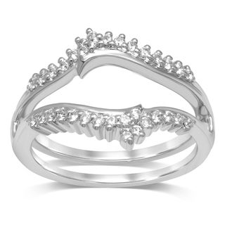 Unending Love 14k Gold 1/4ct TDW Diamond Double Shared Prong Curved Ring