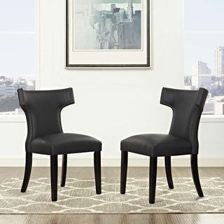 Curve Set of 2 Vinyl Dining Chair
