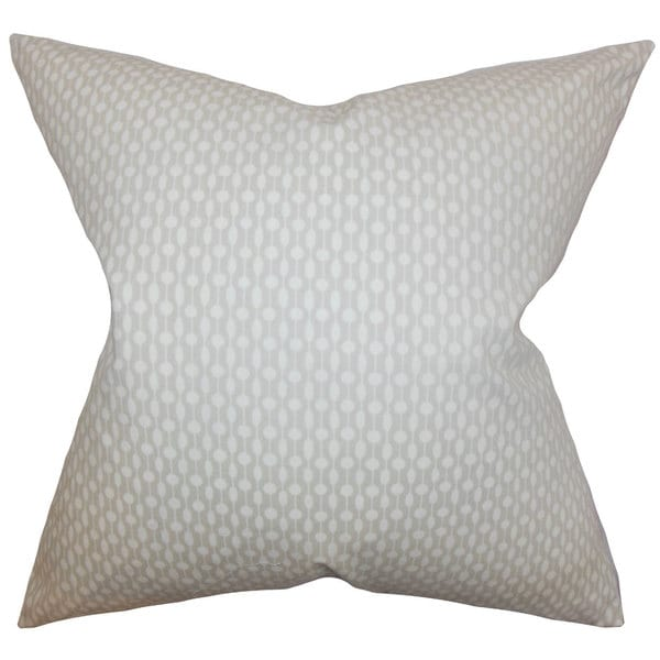 Orit Geometric 22-inch Down Feather Throw Pillow Oyster
