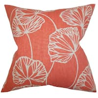 Fia Floral 22-inch Down Feather Throw Pillow Pink