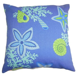 Jaleh Coastal 22-inch Down Feather Throw Pillow Blue Green