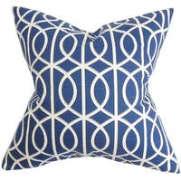 Lior Geometric 22-inch Down Feather Throw Pillow Blue