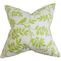 Nyssa Floral 22-inch Down Feather Throw Pillow Green