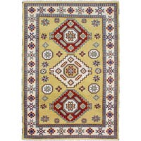 eCarpetGallery Royal Kazak Green Wool Hand-knotted Rug (5'7 x 8'0)