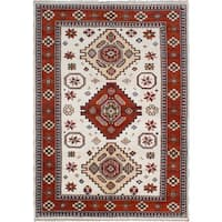 eCarpetGallery Hand-knotted Royal Kazak Ivory Wool Rug (6'8 x 9'6)