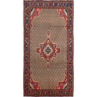 eCarpetGallery Koliai Brown/Red Hand-knotted Wool Rug (5'2 x 10'0)