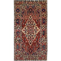 Ecarpetgallery Hand-knotted Bakhtiar Red Wool Rug (5'2 x 9'6)