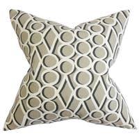 Blaise Geometric 22-inch Down Feather Throw Pillow Gray