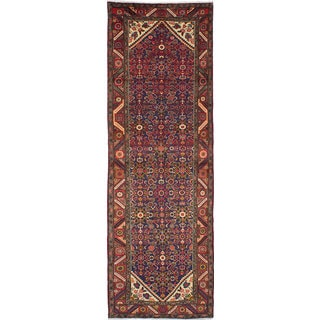 eCarpetGallery Hand-knotted Hosseinabad Blue Wool Rug (3'3 x 10'1)