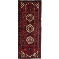 eCarpetGallery Hand-knotted Hamadan Red Wool Rug (3'9 x 9'8)