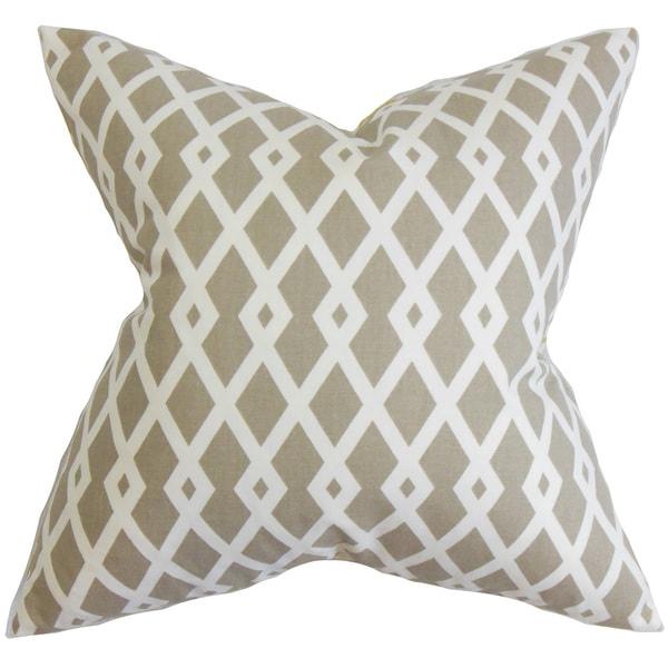 Tova Geometric 22-inch Down Feather Throw Pillow Neutral