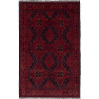 ecarpetgallery Hand-knotted Finest Khal Mohammadi Red Wool Rug (4'1 x 6'4)