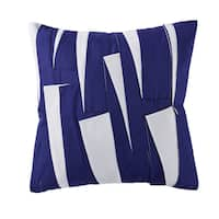 Christian Siriano Garden Bloom White and Blue 18-inch Square Decorative Throw Pillow