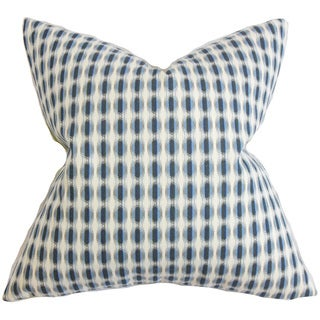 Italo Geometric 22-inch Down Feather Throw Pillow Blue