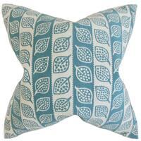 Ottilie Foliage 22-inch Down Feather Throw Pillow Blue