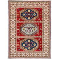 eCarpetGallery Royal Kazak Red Wool Hand-knotted Rug (5'8 x 7'11)