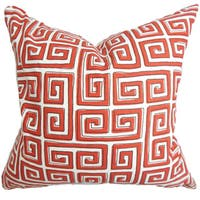 Klemens Geometric 22-inch Down Feather Throw Pillow Red