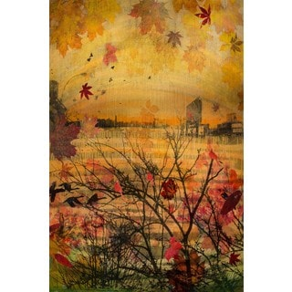 Marmont Hill - 'Autumnal Tide' by Tracy Silva Barbosa Painting Print on Wrapped Canvas